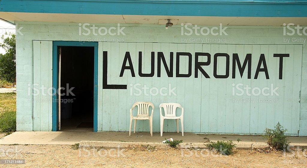 The old laundromat stock photo