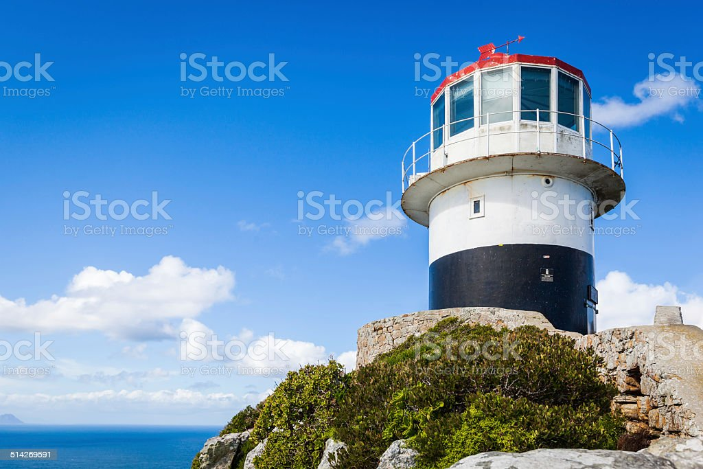 The old lighthouse at Cape Point stock photo