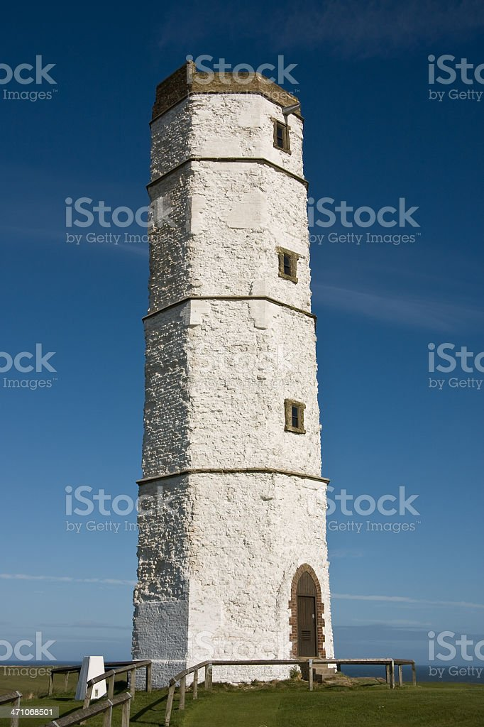 The Old Lighthouse, Flamborough stock photo