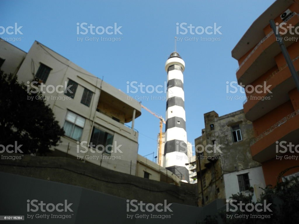 The Old Lighthouse Still Towers stock photo