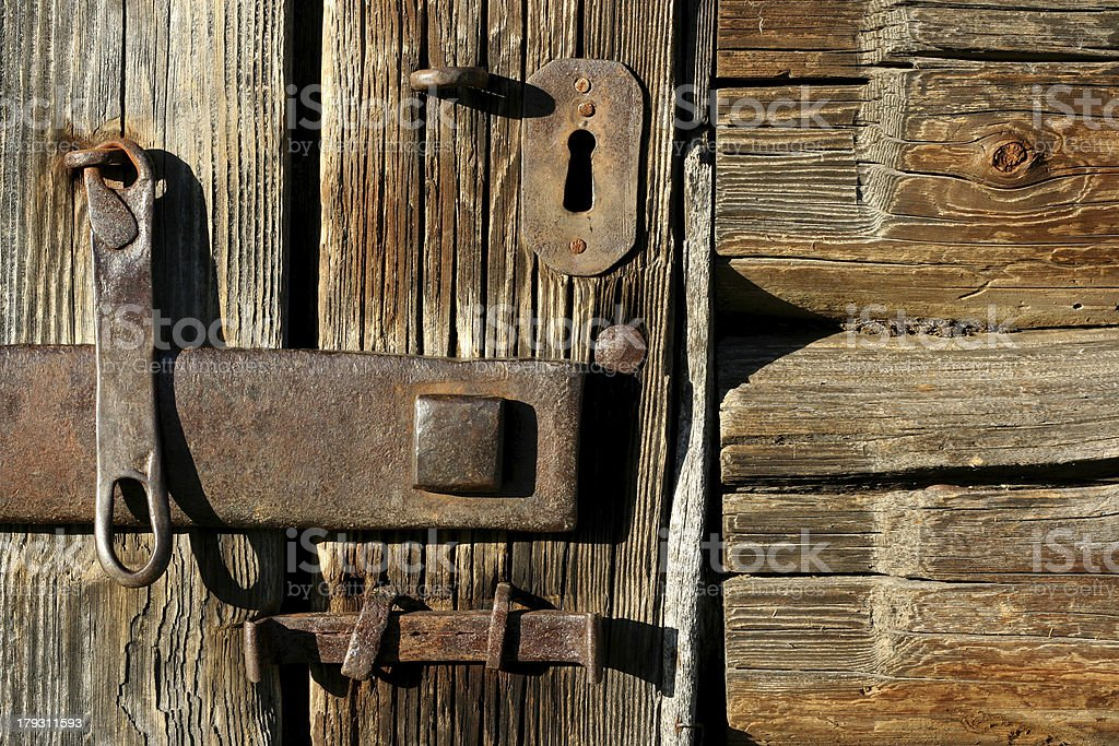 The Old Lock royalty-free stock photo