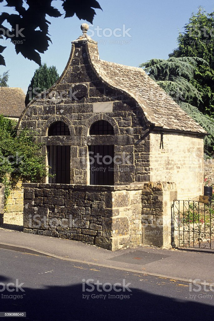 The Old Lock Up, Bisley, Gloucestershire, UK stock photo