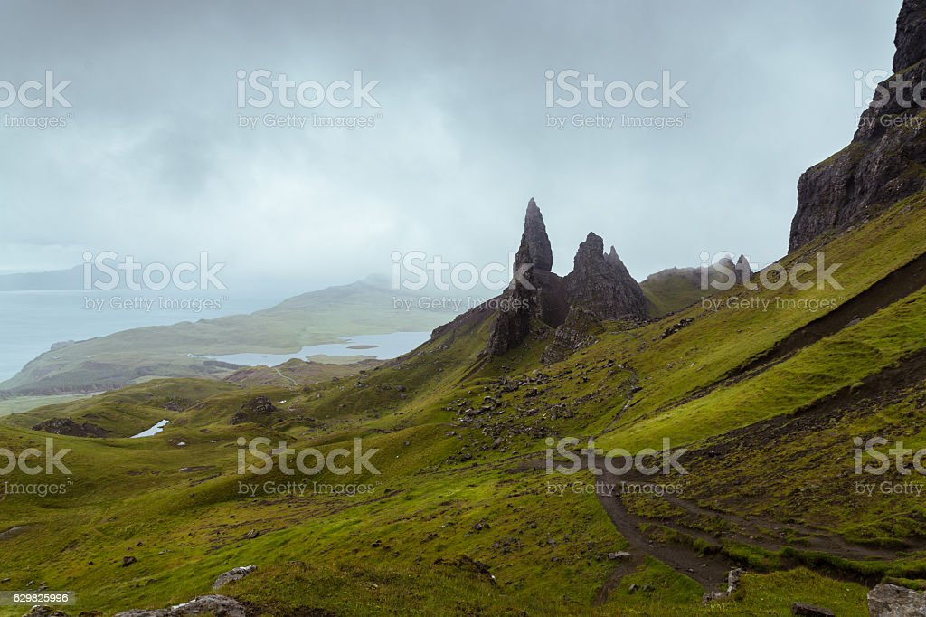 The Old Man of Storr on Isle of Skye stock photo