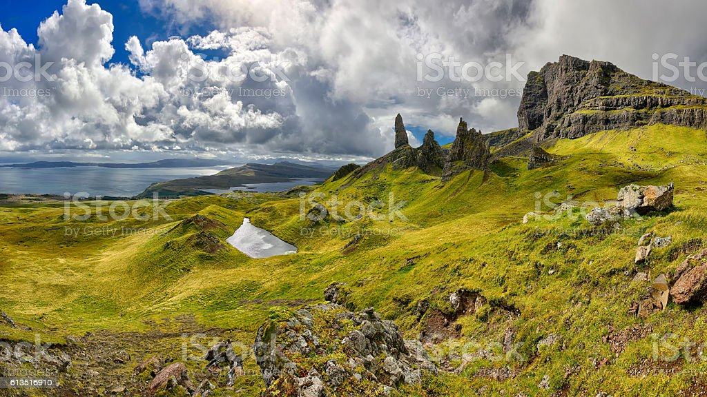 The Old Man of Storr (Isle of Skye, Scotland) stock photo