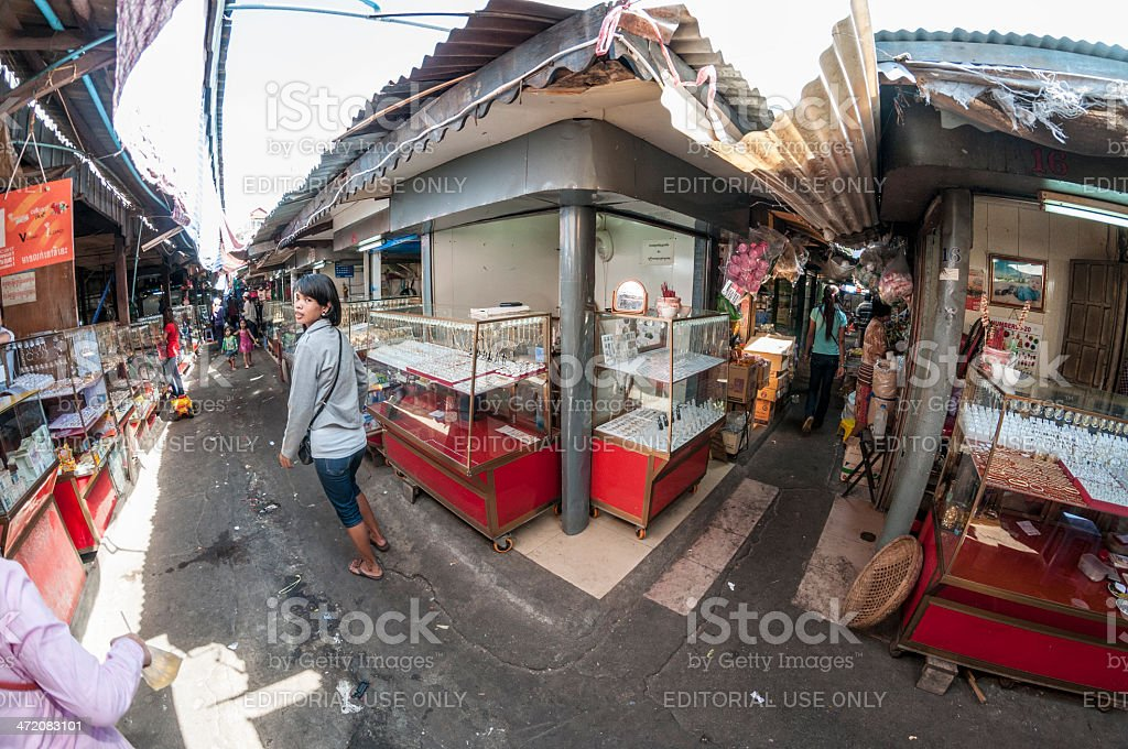 The Old Market In Phnom Penh, Cambodia royalty-free stock photo
