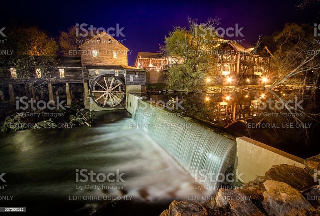 The Old Mill Restaurant In Pigeon Forge Tennessee stock photo