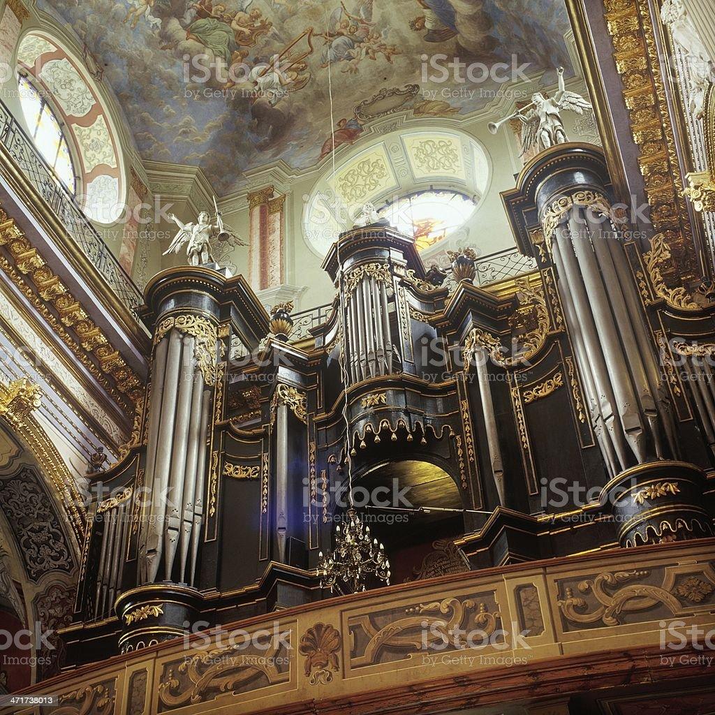 The old monastery in Lviv Bernardino royalty-free stock photo