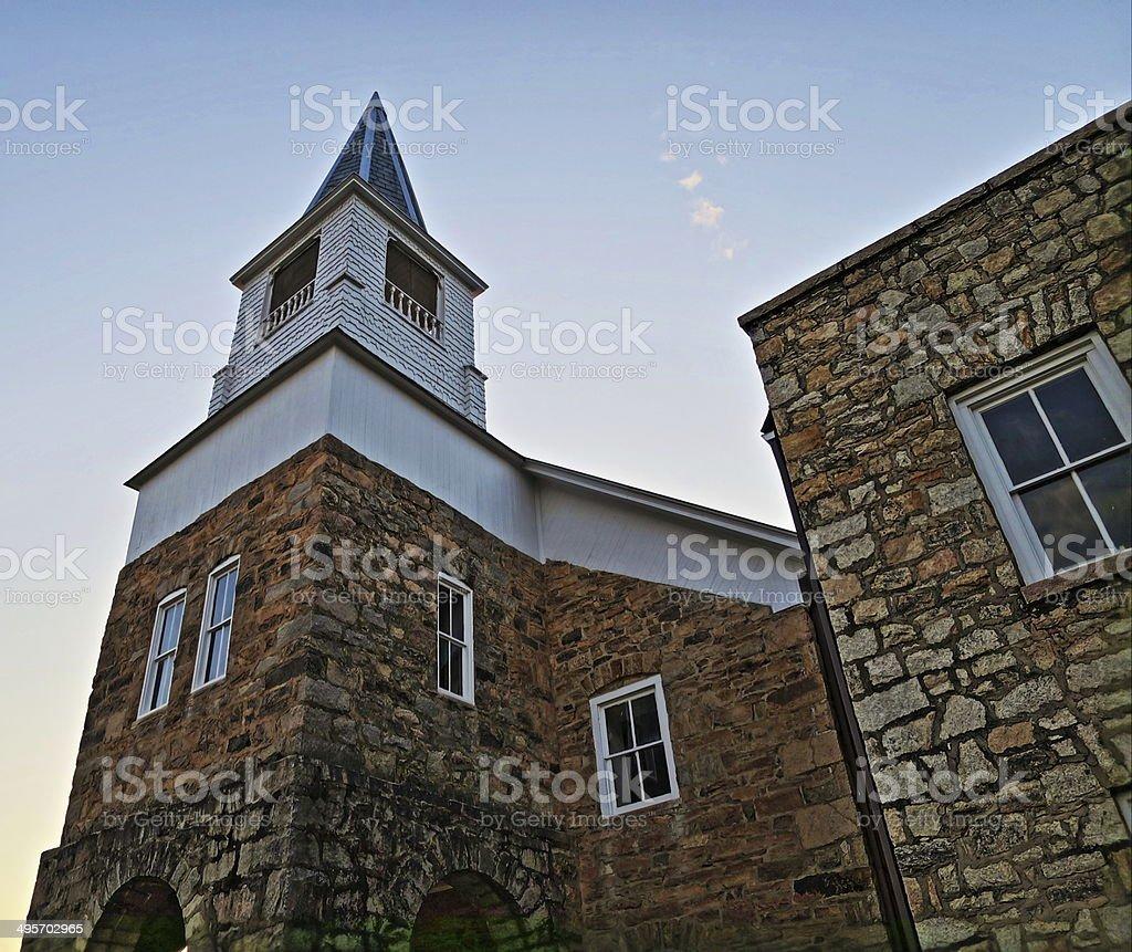 The Old Organ Lutheran Church stock photo