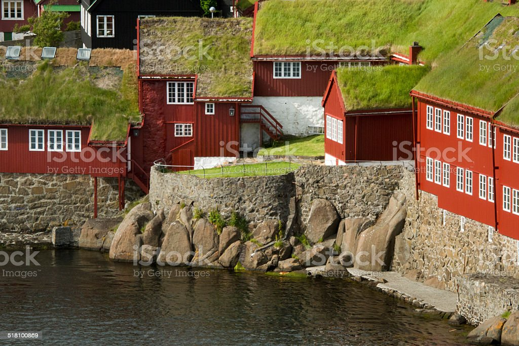 The old parliament of the Faeröer Islands in Thorshavn stock photo