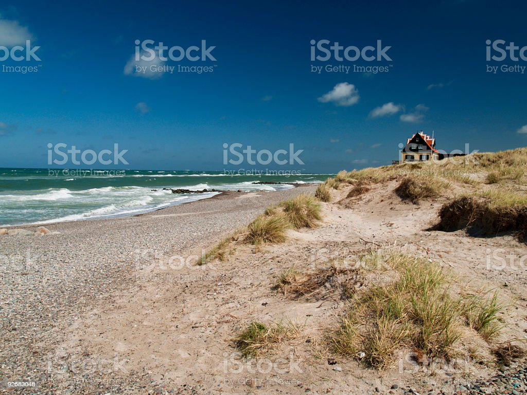 The old part of Skagen stock photo