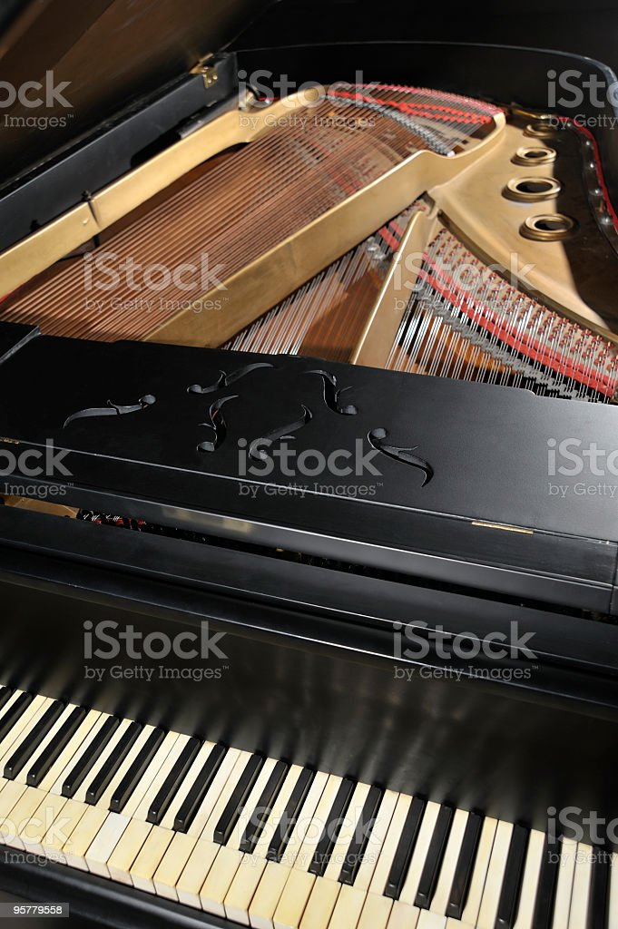 The old piano blues royalty-free stock photo