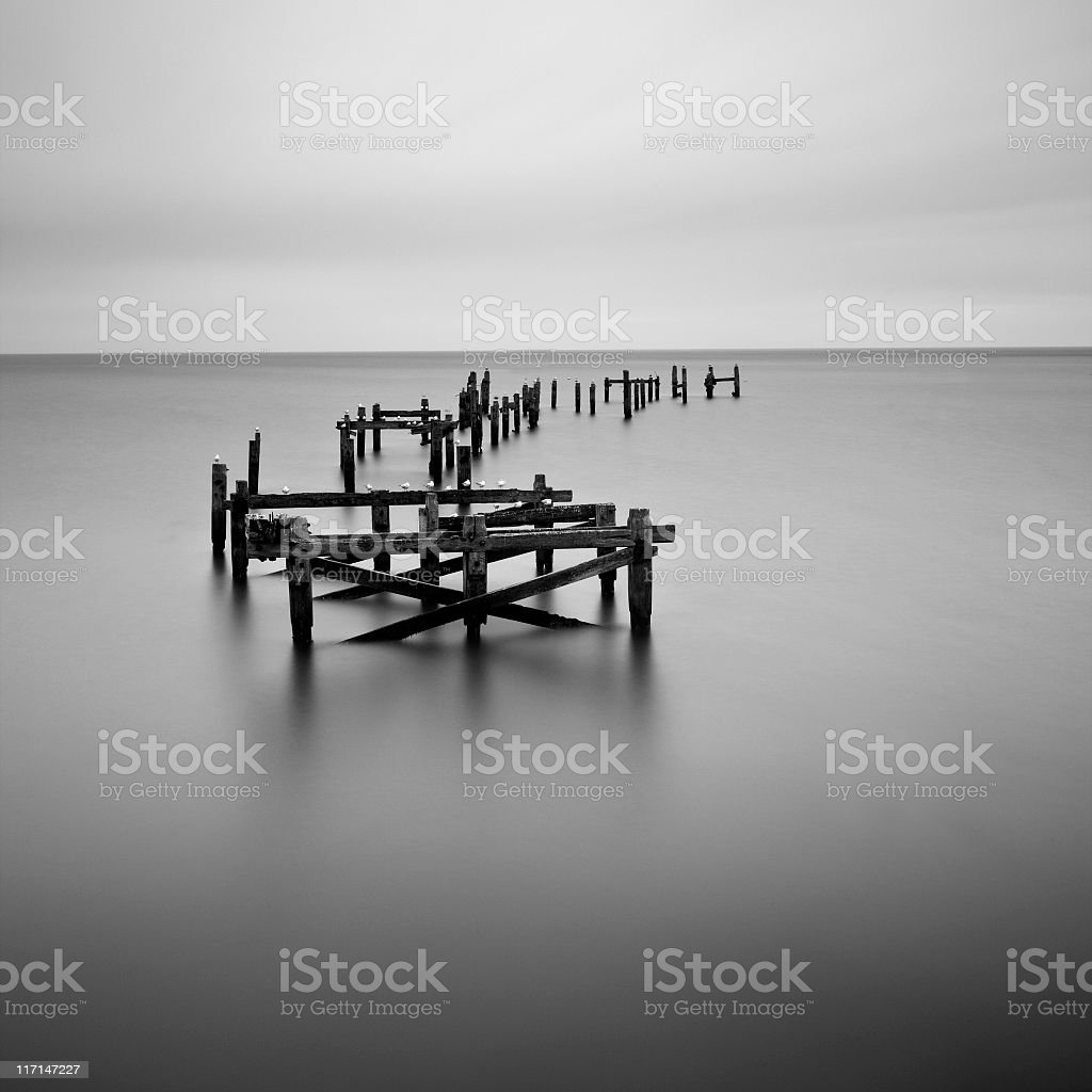 The old pier at Swanage stock photo