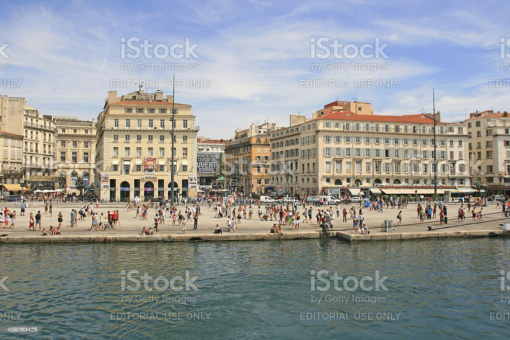 The old port of Marseille, France. royalty-free stock photo