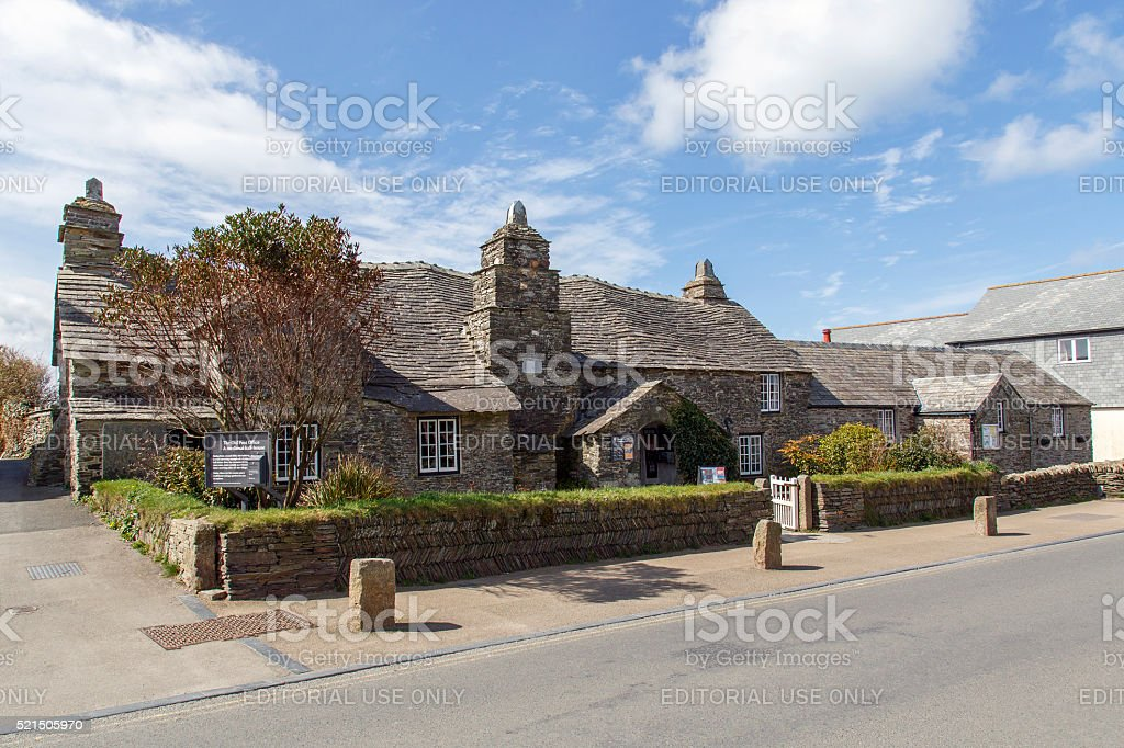 The Old Post Office - Tintagel stock photo