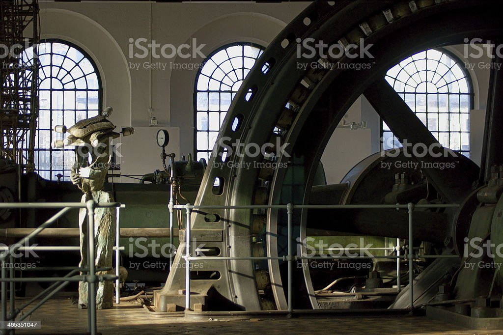 The old power station coal mine stock photo