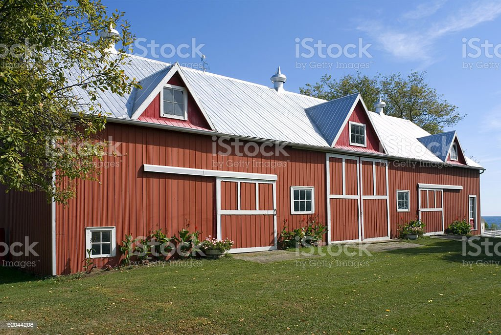 The Old Red Barn stock photo
