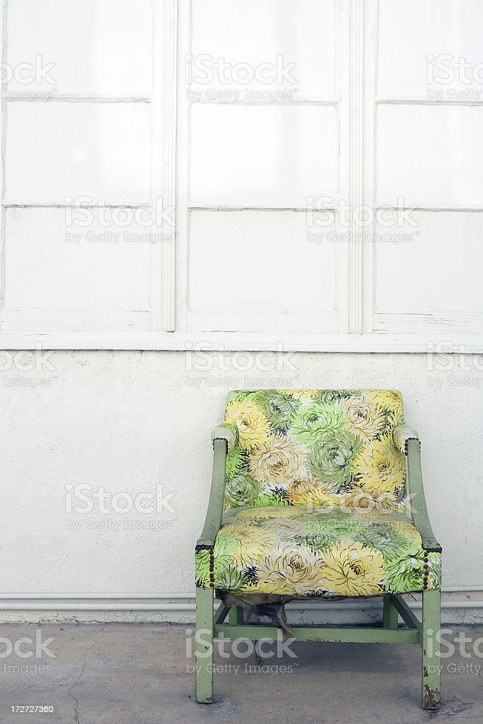 The Old Retro Vintage Chair royalty-free stock photo