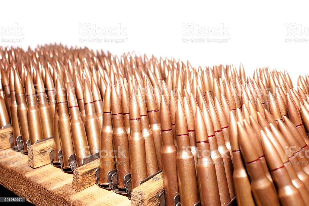 The old rifle cartridges stock photo