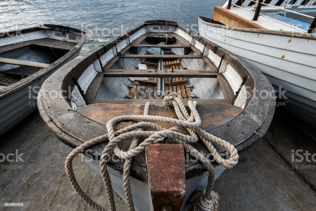 The old rowing boat. stock photo