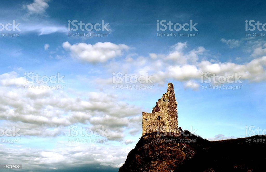 The Old Ruin, Greenan Castle stock photo