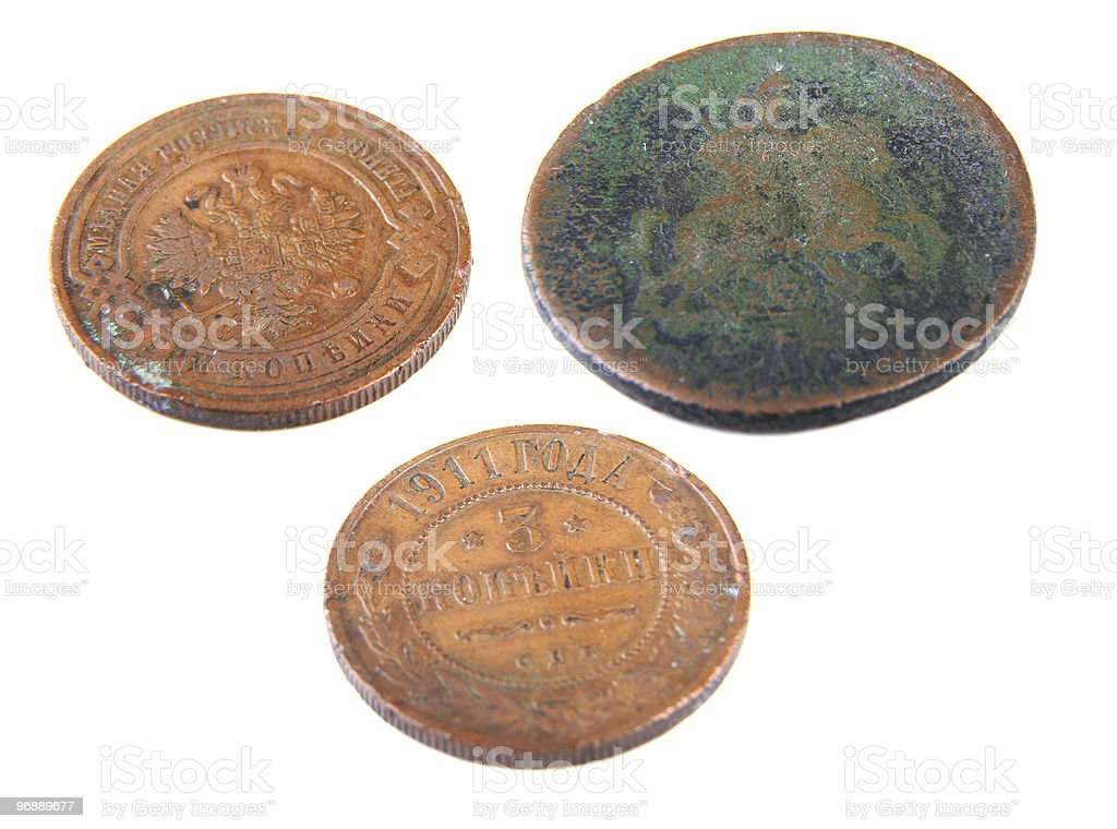 the old russian coins stock photo