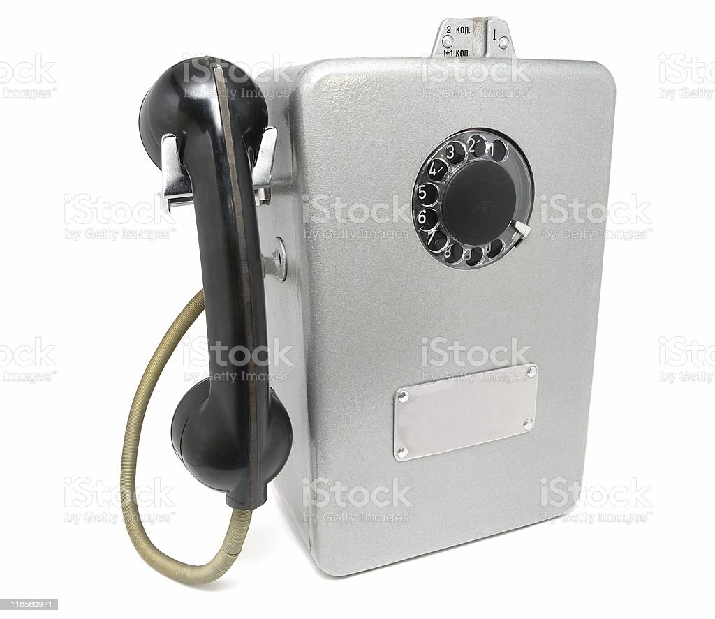 The old Russian payphone royalty-free stock photo