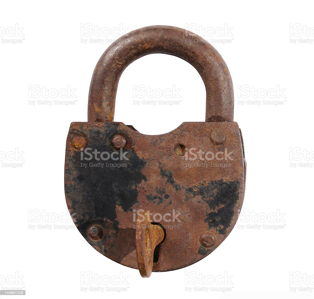 The old rusty lock royalty-free stock photo