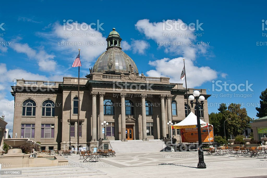 Historic San Mateo County Courthouse royalty-free stock photo