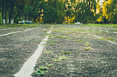 The old school track for running, jogging