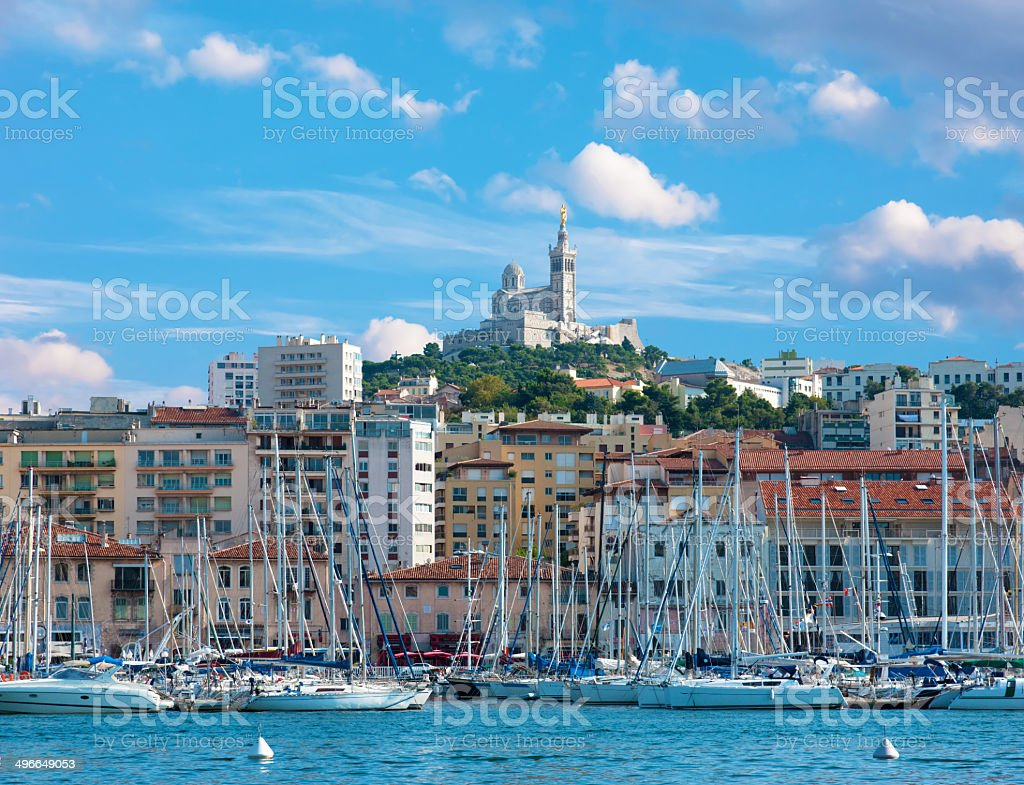 The old sea-port of Marseille, Vieux stock photo