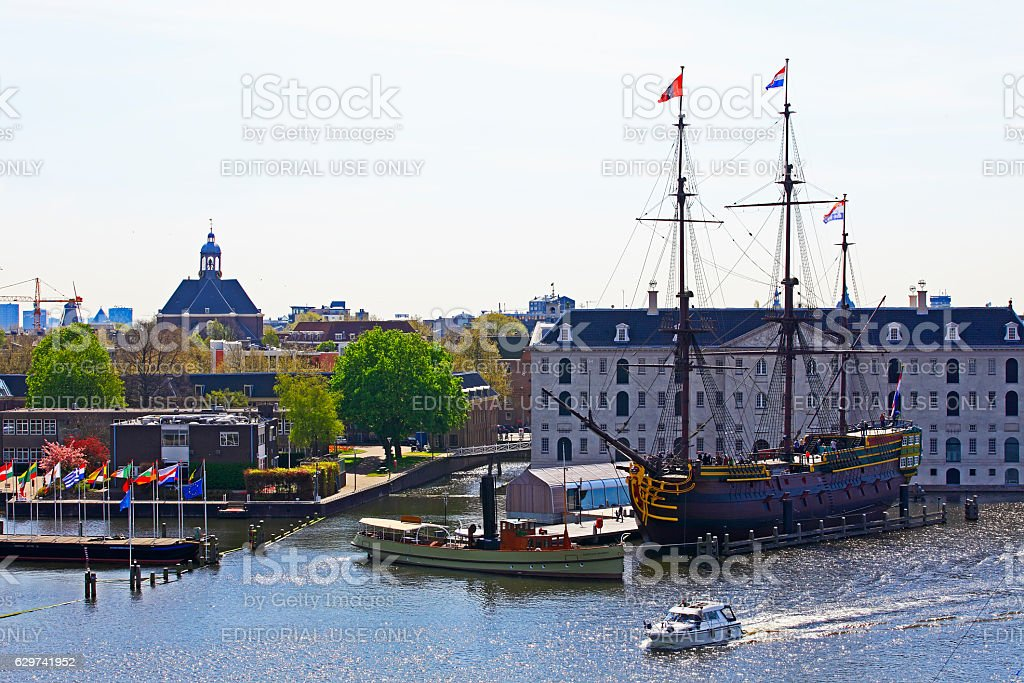The old ship, Amsterdam stock photo