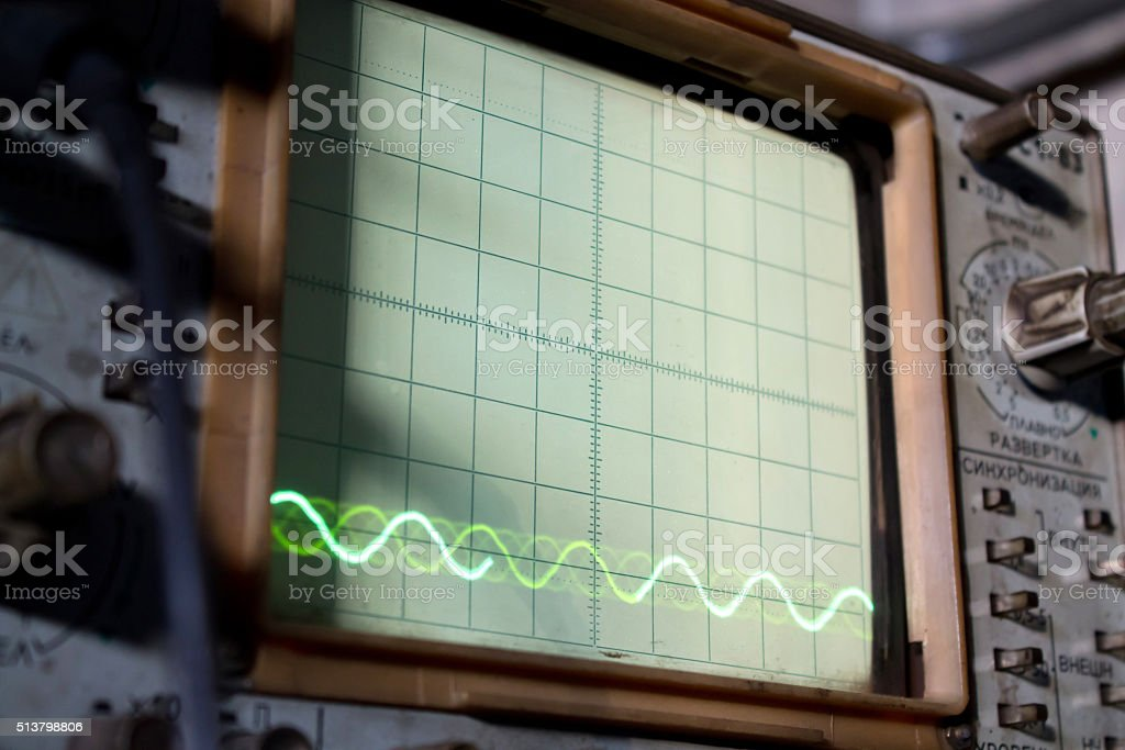 the old Soviet oscillograph stock photo
