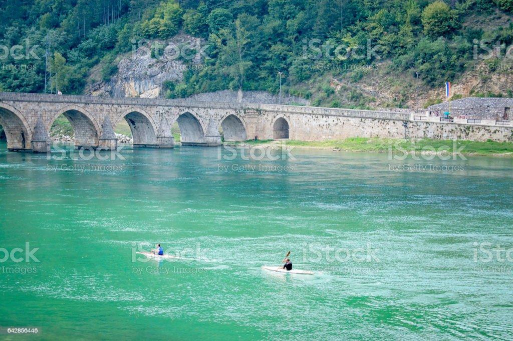 The old stone bridge stock photo
