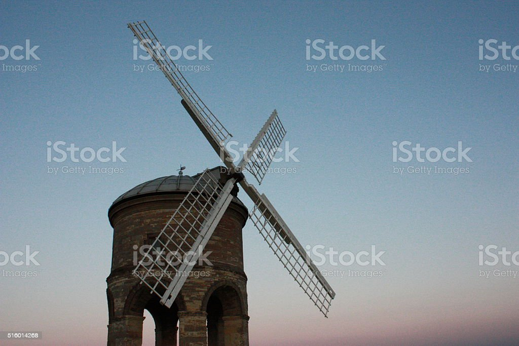 the old stone windmill at chesterton stock photo
