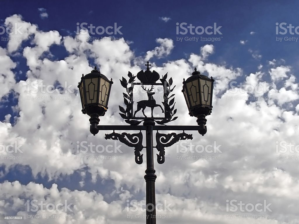 The old street lamp stock photo