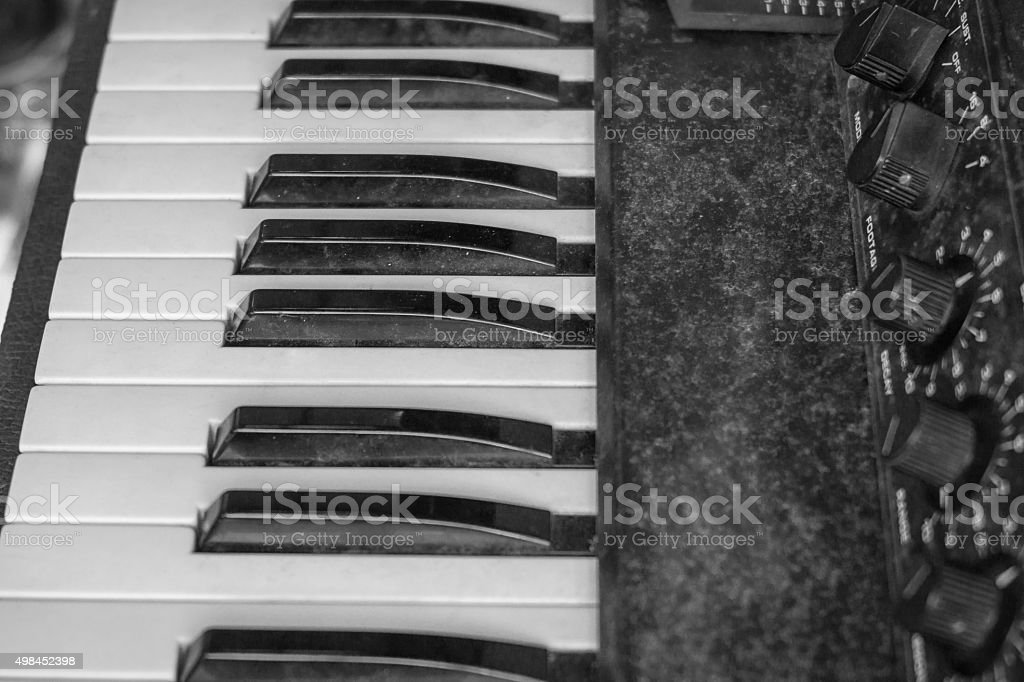 the old synthesizer stock photo