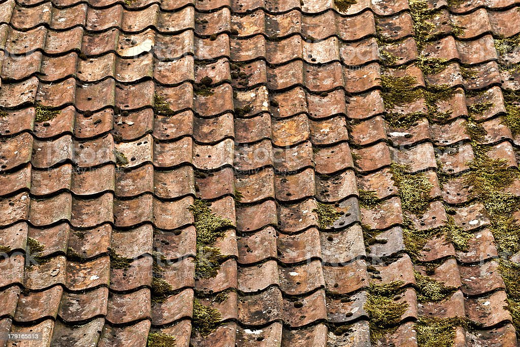 The old tile roof royalty-free stock photo