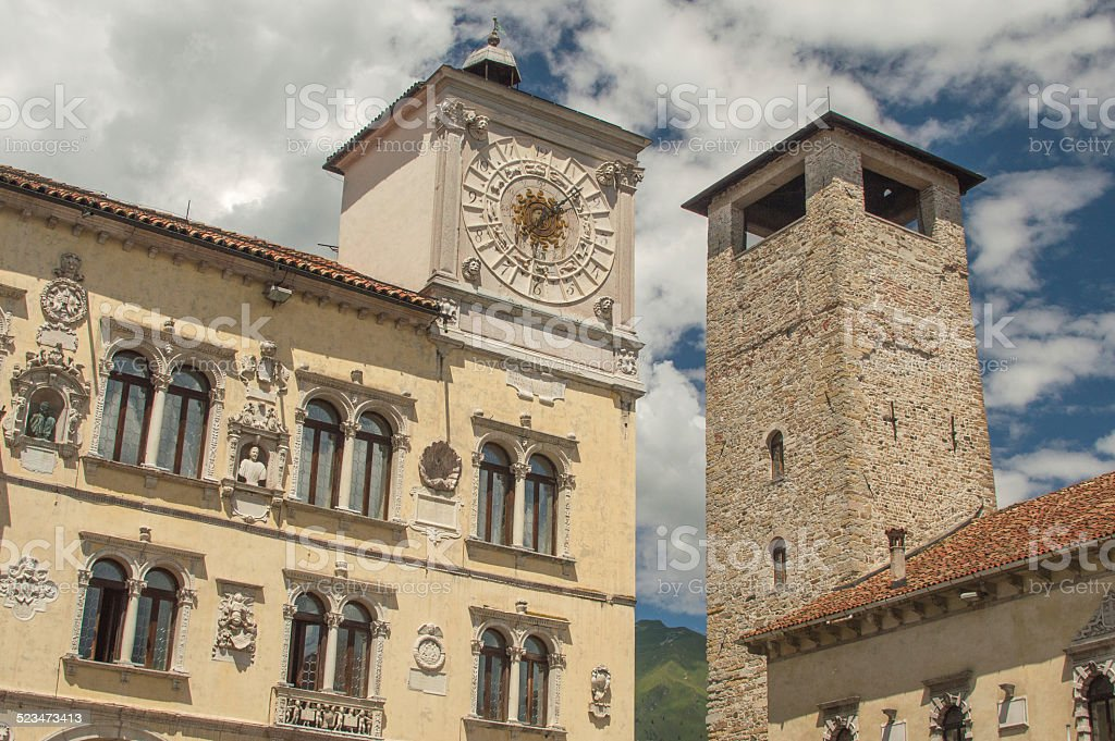 The old towers of Belluno, Italy stock photo