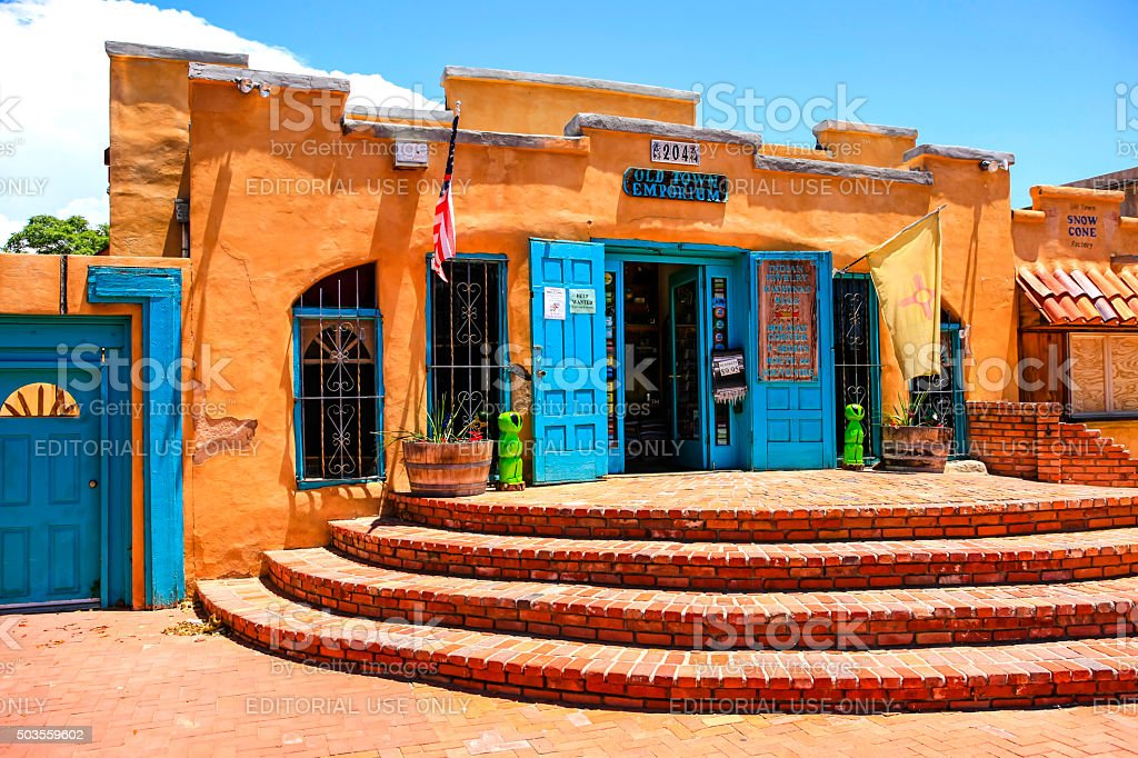 The old town emporium store in Albuquerque NM stock photo