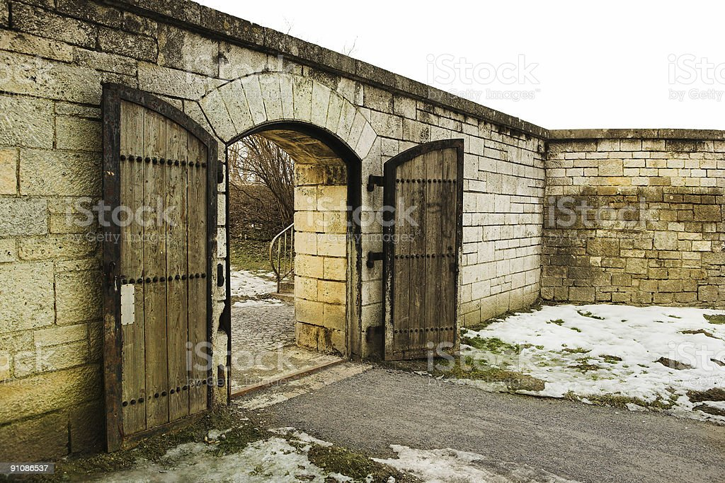The old town gate of Straubing stock photo
