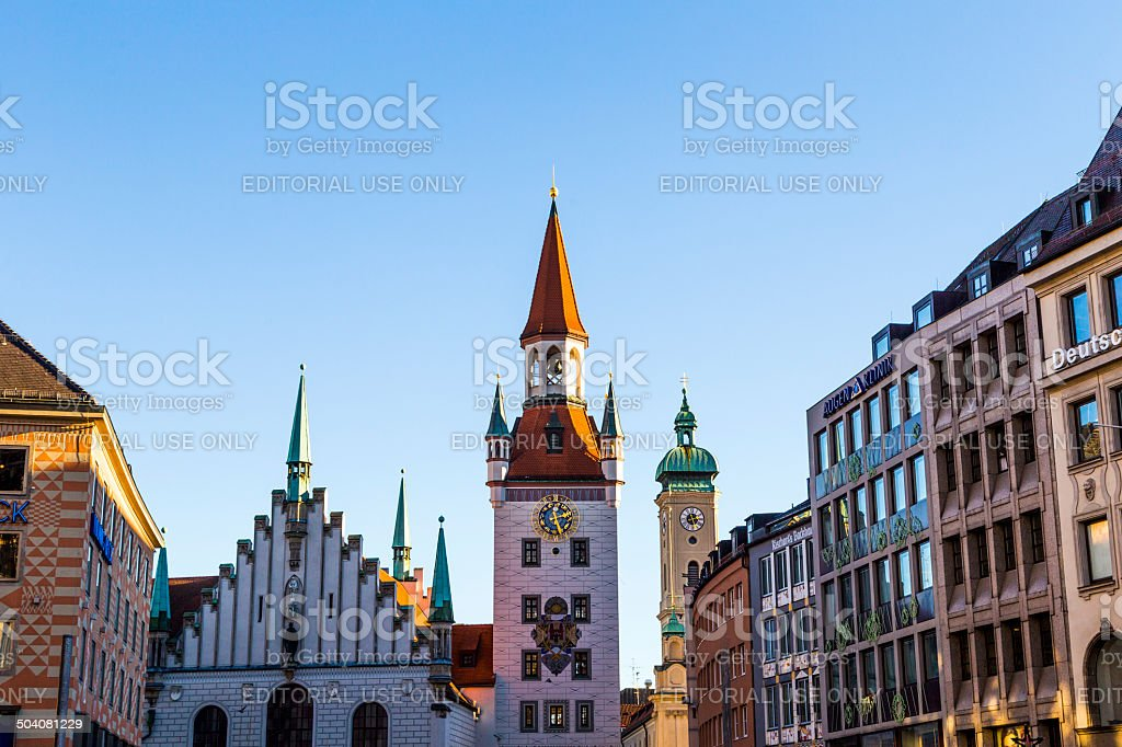 The old town hall architecture in Munich stock photo