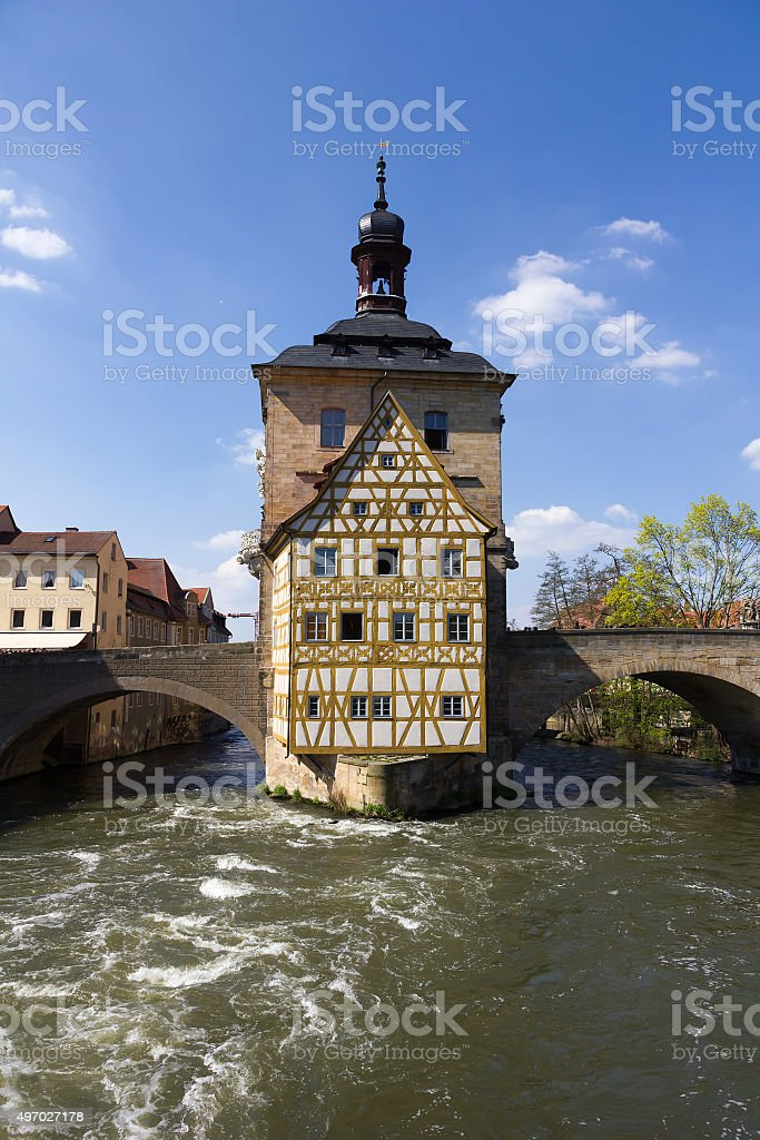 The old Town Hall in Bamberg, Germany. stock photo
