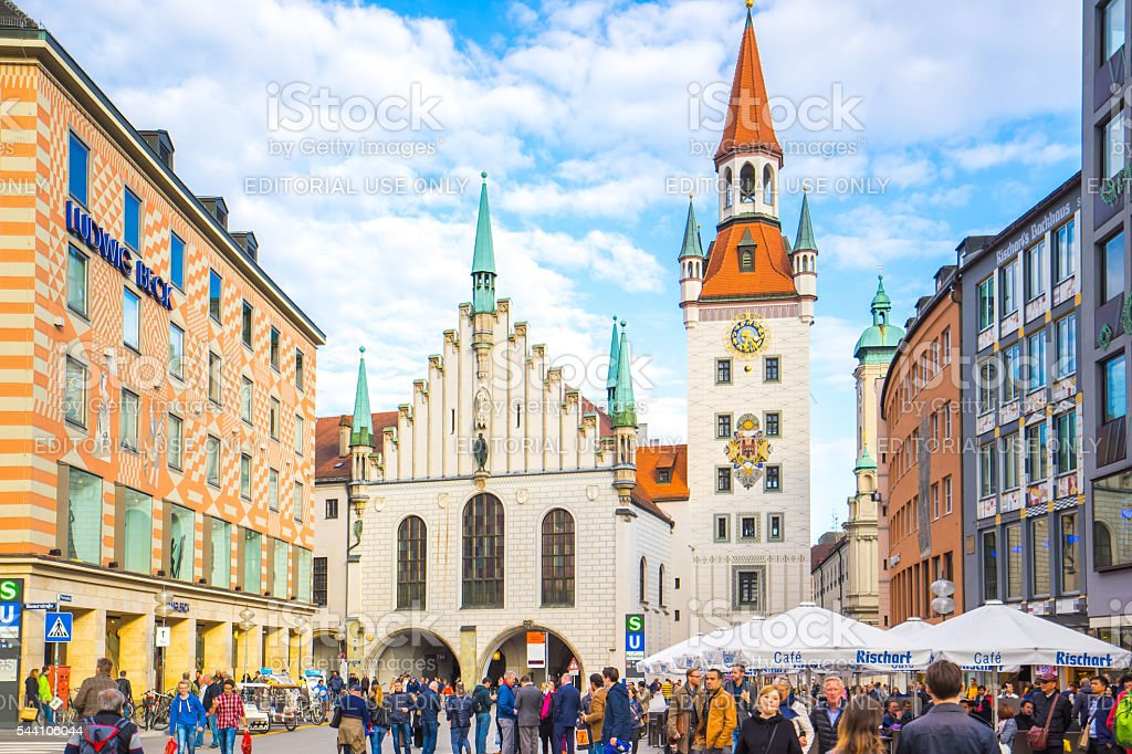 The Old Town Hall of Munich, Germany. stock photo