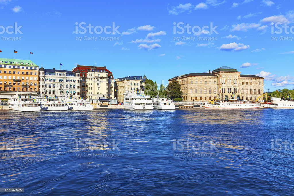 The Old Town in Stockholm, Sweden royalty-free stock photo