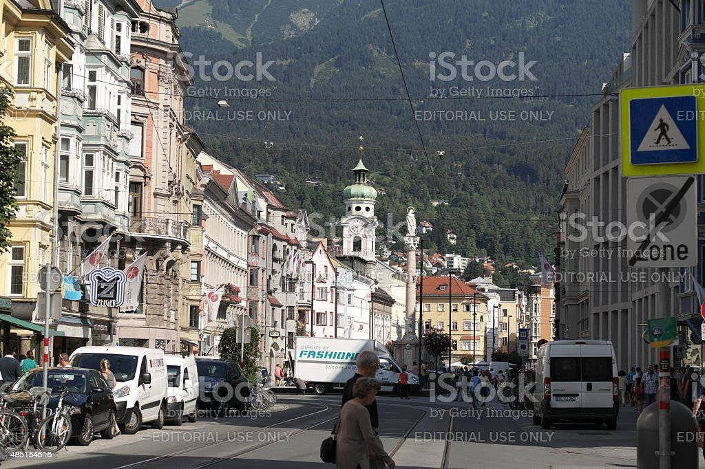The old town of Innsbruck (Tyrol, Austria) stock photo