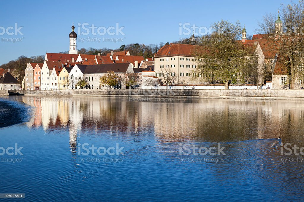 The old town of Landsberg am Lech stock photo