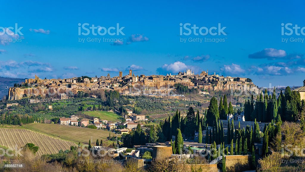 The old town Orvieto in Umbria, Italy stock photo