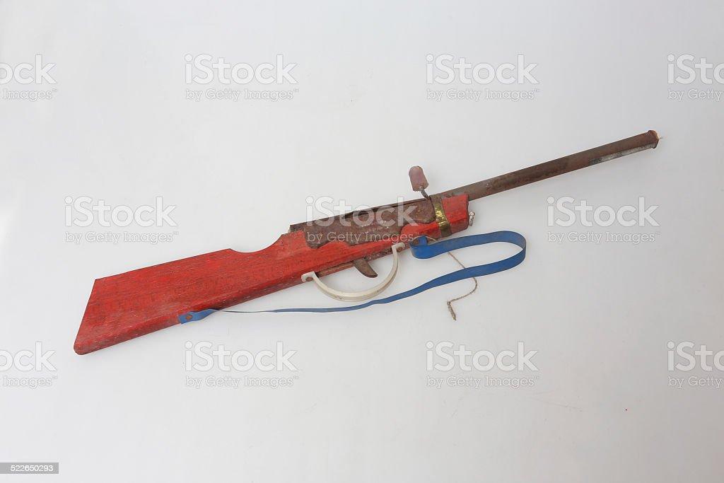 The old Toy gun stock photo