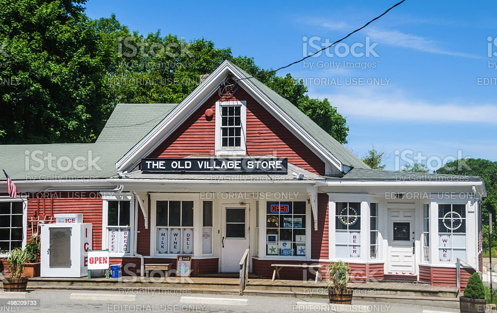 The Old Village Store-West Barnstable, MA stock photo