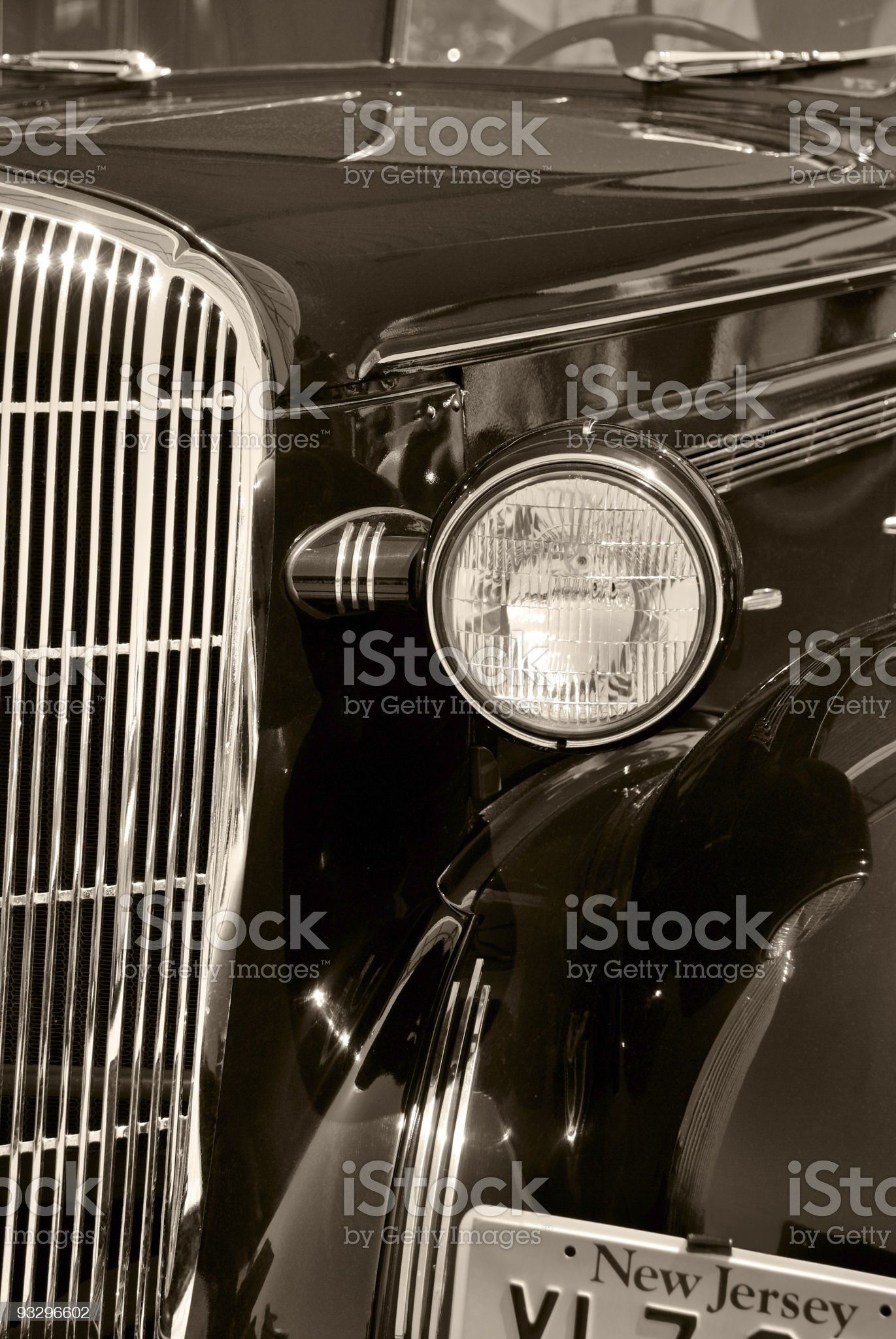 The old vintage american car royalty-free stock photo